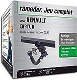 Rameder Attelage rotule démontable pour Renault CAPTUR + Faisceau 7 Broches...