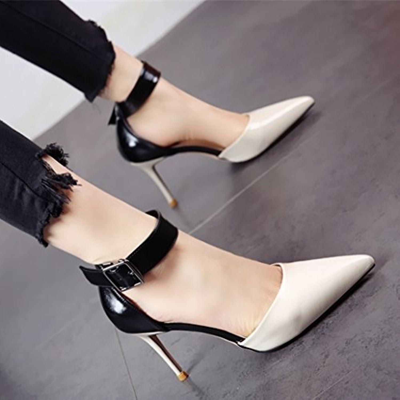 YMFIE Verano nuevo estilo europeo parte de la moda en zapatos de tacón de danza dama zapatos elegantes,39,b de... -
