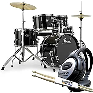 Pearl Road Show RS585C C31Jet Black, batteria a percussioni, cuffie, 1paio di bacchette