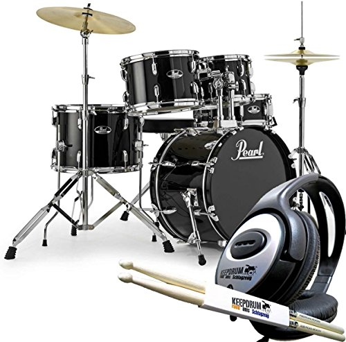 PEARL Roadshow RS585C C31 Drum Kit and Keepdrum Headphones and 1 Pair of Drumsticks