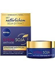 NIVEA VITAL Soja Anti-Age Straffende Nachtpflege (50 ml), Feuchtigkeitspflege mit natürlichem Soja-Extrakt, regenerierende Pflege über Nacht