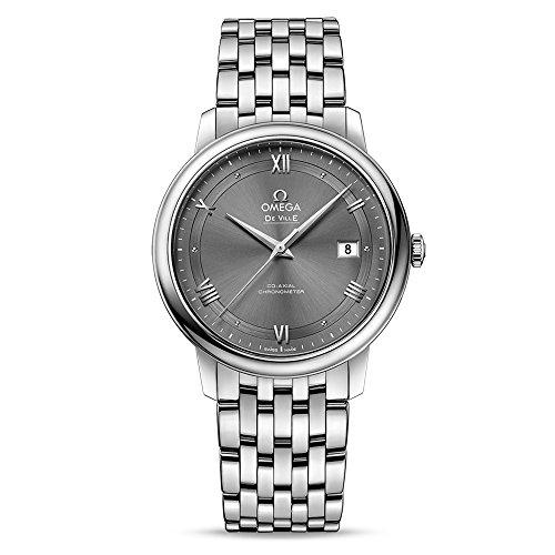 Omega orologio da donna con cinturino e cassa in acciaio da 39mm automatico 42410402006001