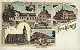 Gruß aus Frohburg, Sachsen - 1909 - Reproduktion einer alten Ansichtskarte - Großformat 20x30 cm
