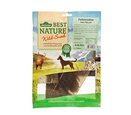 Dehner Best Nature Hundesnack, Fellstreifen vom Hirsch, 5 Stück (100 g)