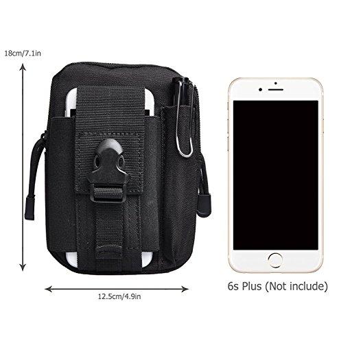 Taktische Tasche Bauchtasche, AntEuro Gürteltasche Handytasche Tasche Waist Bag-Multifunktional für Outdoor Reisen Sport Schwarz