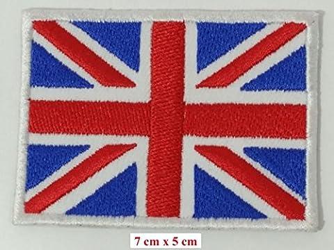 embird British Union Jack Angleterre drapeau UK Grande-Bretagne Applique fer brodé sur Patch à coudre Badge