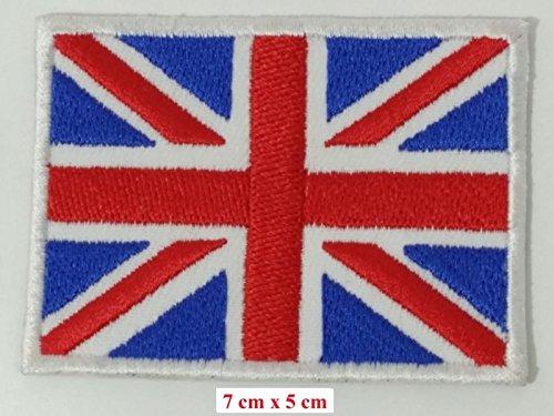 Embird British Union Jack bestickte Applikation England Flagge UK Großbritannien Eisen auf Sew auf Patch (British Kostüme Of Best)