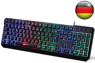 KLIM Chroma QWERTZ Germany Keyboard Layout Black RGB from KLIM