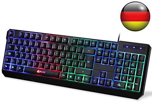 KLIM Chroma Tastatur Gamer QWERTZ Deutsch mit USB Kabel...