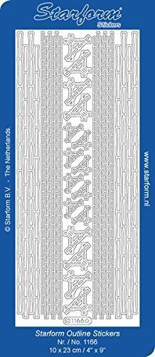 Starform BAMBOO CORNERS BORDERS Peel Stickers GOLD 1166 by Sticker -