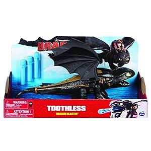 Spin Master 6044144-Dreamworks Dragons-Dragon Blaster-sin dientes/Toothless, 1 unidad modelo surtido
