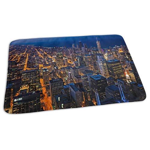Kotdeqay Premium Wickelauflagen für Babywindelfor Infant Chicago View from Willis Tower Portable Urine Pads Bed Pad Great for Travel/Stroller/Bed/Car