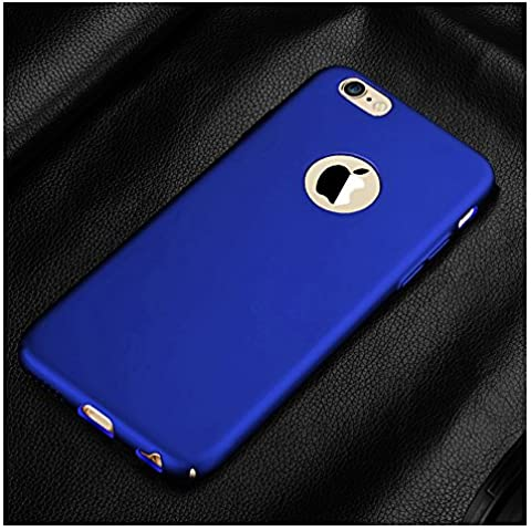 iPhone 6/iPhone 6S - carcasa Cover Case Calidad Pintado de Superficie Anti-deslizante Aceite de Goma Pintura de Dos Niveles Diseñado Todo Surround para Apple iPhone 6/ 6S (for iphone6S, azul)