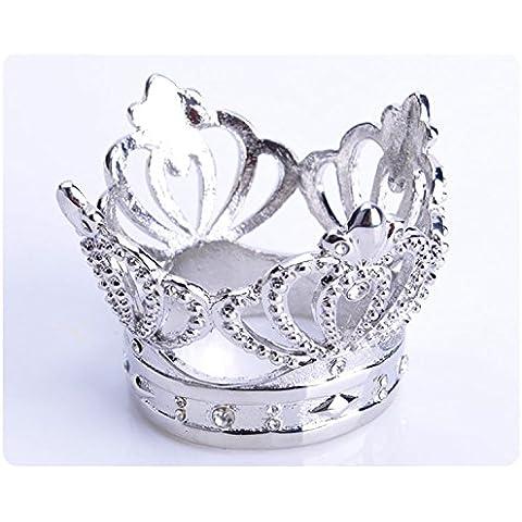 YMJ plata-encrusted decorativos anillos de servilleta servilleta anillo en la corona de flores Tung hebilla occidental