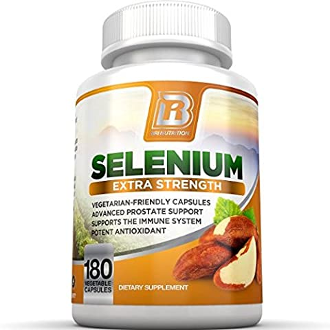 BRI Nutrition Selenium 180ct 200mcg Vegetable Formula - Essential Trace Mineral to Support Thyroid, Prostate and Heart Health* - Yeast Free - Made in the