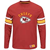 "Kansas City Chiefs Majestic NFL ""Powerful Hit"" Men's Long Sleeve Crew Shirt"
