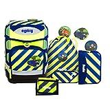 Ergobag Special Edition Neo Cubo Schulranzen-Set 6-tlg IllumiBär 213 neon gelb