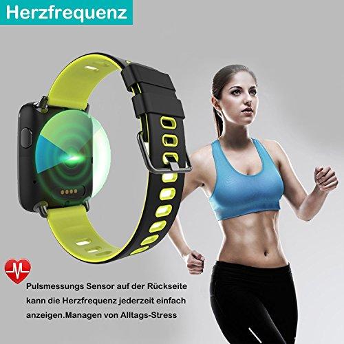 YAMAY Smartwatch Wasserdicht IP68 Smart Watch Uhr mit Pulsmesser Fitness Tracker Sport Uhr Fitness Uhr mit Schrittzähler,Schlaf-Monitor,Stoppuhr,Call SMS Benachrichtigung Push für Android und iOS - 3
