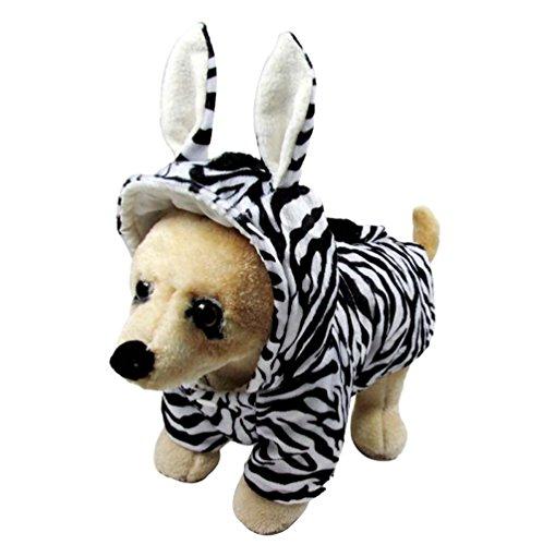 Hund Kostüme Zebra (Yuncai Halloween Cosplay Haustier Hund Zebra Verkleidung Kleidung Lustige Party Kostüme für Katzen Als Bild)
