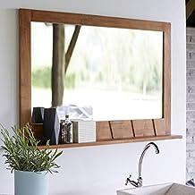 Amazon miroir salle de bain en teck