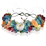 Fascia Corona Floreale, Fiore Archetto, Fascia per capelli, Flower Crown Headband, Capelli Corona Fiori, Corona di Fiori, Accessori Capelli Sposa