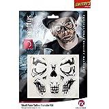 Smiffy's 46774 - Totenkopf Gesichts Tattoo