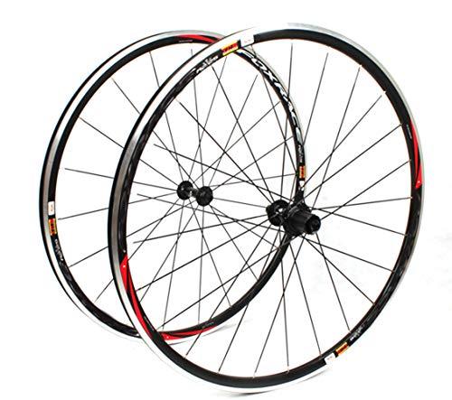 LYzpf Fahrrad Laufrad 700C Straße Bike Rad Vorne Hinten Set Felgen Disc 11 Geschwindigkeit Zubehör Aus Aluminum Alloy,Black (Speichen-rad-700c 3)