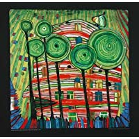 Hundertwasser Poster stampata Blobs Grow in Beloved
