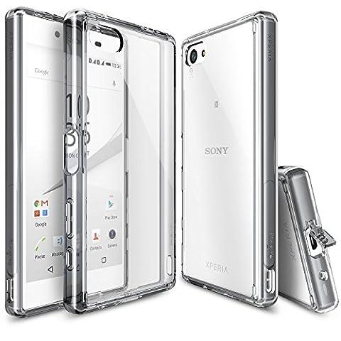 Xperia Z5 Compact Hülle, Ringke FUSION kristallklarer PC TPU Dämpfer (Fall geschützt/ Schock Absorbtions-Technologie) für das Sony Xperia Z5 Compact - Rauchschwarz