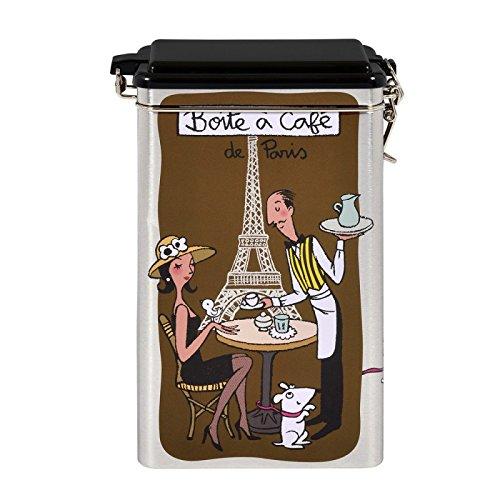 DLP 22215 caja de lata para café Ancho 13 x 8,5 altura 18 cm/de metal