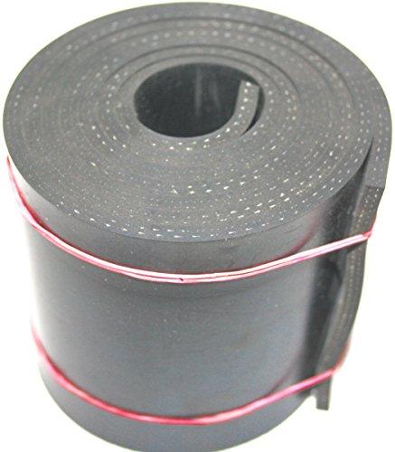 1000mm x 80mm x 5mm Gummistreifen mit Gewebe Gummi-Matte-Platte Vollgummi Schürfleiste Hartgummi
