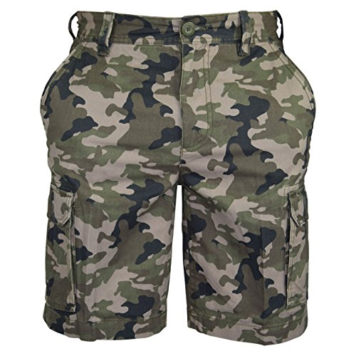 Mens Casual Summer Plain Cotton Half Pant Camouflage Workwear Cargo Combat Short