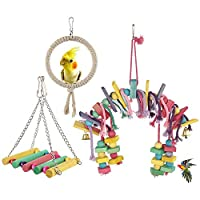 Lovestoryeu Bird Chewing Toy - for Physical & Psychological Well-Being of Your Parrots - Nibbling Keeps Beaks Trimmed - Preening Keeps Feathers Clean