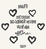 Namenskalender Brigitte: Ideales Geschenk mit 12 trendigen Typo-Art-Sprüche mit immerwährendem Kalendarium. Wand-Aufstell-Postkarten-Kalender in einem.