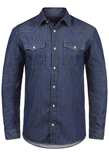 Produkt paulus - camicia in jeans da uomo, taglia:m, colore:dark blue denim