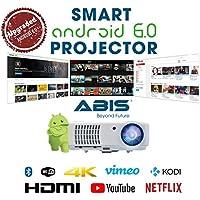 Proyector de alta definición SMART conexión WiFi Proyector HD 720. Lleno HD 1080P HDMI proyector para Cine de casa, Sala de Juegos, Enteramiento Casa, Multimedia, Teatro de Casa, Bares, Hoteles, Oficinas, Conferencias, Presentación de PowerPoint. ABIS HD6000 Modelo Plus.