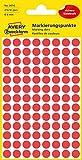 AVERY Zweckform 3010 selbstklebende Markierungspunkte (Ø 8 mm, 416 Klebepunkte auf 4 Bogen, runde Aufkleber für Kalender, Planer und zum Basteln, Papier, matt) rot