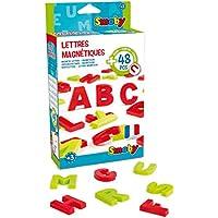 Smoby–430100–Pack de 48Letras mayúsculas magnéticas–24Letras Colores Rojo–24Letras Colores Verde