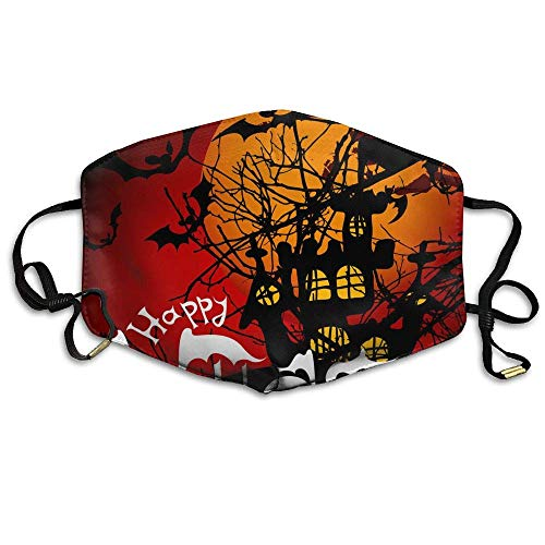 Daawqee Staubschutzmasken, Earloop Face Mouth Masks Dustproof Anti-flu Warm Dust Mask Washable Women Halloween Pattern