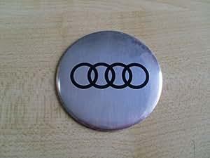 Brand New Insignes de roue pour Audi argent logo auto-adhésif de solides 3D 55mm