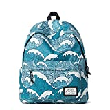 Artone Kanagawa Surfing Padded School Bag Daypack Casual Backpack With Laptop Compartment Blue - Artone - amazon.co.uk