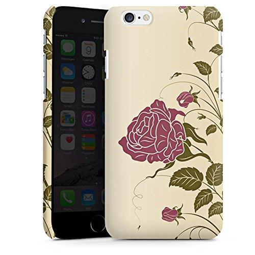 Apple iPhone X Silikon Hülle Case Schutzhülle Rosen Blumenranken Blätter Premium Case matt