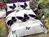 Die besten Laken und Kissen Sets - BELOMODA 5D Purple Butterfly Print Bettunterlagen mit Reißverschluss Bewertungen