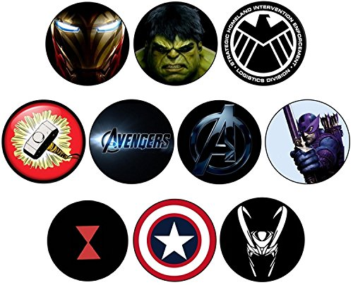 Avengers Collection Badge, Magnet, Schlüsselanhänger, Schlüsselring-Flaschenöffner, Schlüsselanhänger 58 mm