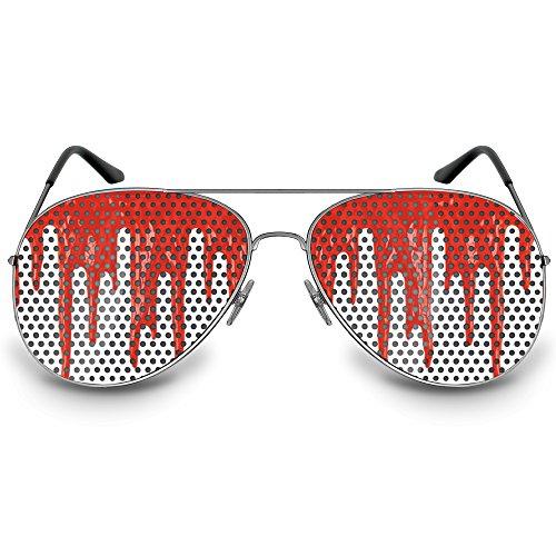 """COOLEARTIKEL Halloween/Fasching Spaßbrille mit Motiv """"Bloodrain"""", Partybrille / -"""