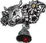 SPILLA - metallo - pin - Almanacco - Mucca con campana - 02676 - TGL circa 3,9 x 4,1 cm