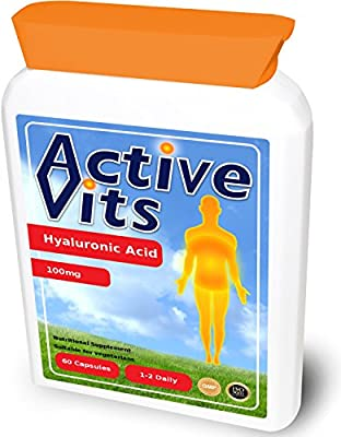 ActiveVits Hyaluronic Acid 100mg 60 Capsules Skin Care