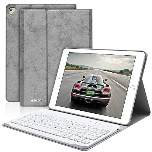 Tastatur Hülle iPad 9.7, Abdeckung iPad mit Deutsche Tastatur Bluetooth Drahtlos für iPa