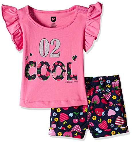 612 League Baby Girls' Clothing Set (ILS17I75010-6 - 12 Months-Navy and Pink)