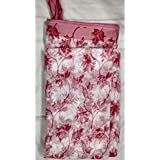 Mosquito NET For Double Bed 6X7 Feet Polyester And Cotton Flower Print Red Color For Baby | Bedroom | Family From Sri Ganesha Bengal Emporium